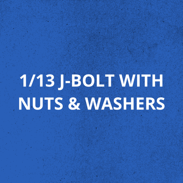 1x13 J Bolt With Nuts & Washers